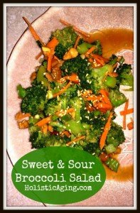 Sweet & Sour Broccoli Salad | Holistic Aging